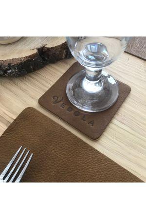 Premium Tischsets aus vollnarbigem Echtleder