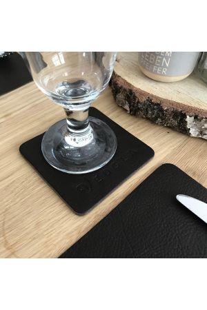 Premium Tischsets aus vollnarbigem Echtleder Ebano